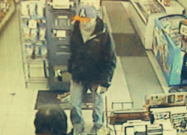 Thunder Bay Police have released this image from the security camera at the Franklin Street robbery location.