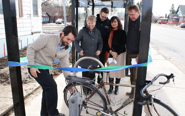 EcoSuperior and Thunder Bay Transit officially celebrated the opening of Thunder Bay's first cyclist-friendly Transit Hub, located at 562 Red River Road.