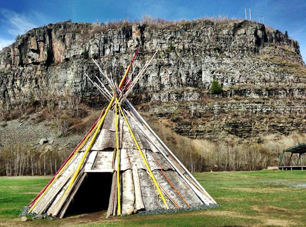 The Wigwam at the Pow Wow Grounds is used for traditional ceremonies - Fort William First Nation