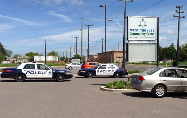 When members attempted to enter the West Thunder Community Centre on Thursday, Thunder Bay Police were called