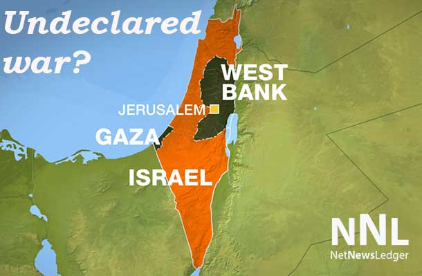 The fighting, so far missile and rocket fire exchanges is in the tiny Gaza Strip