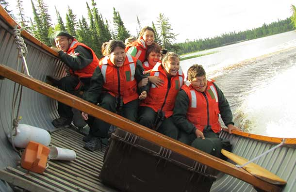 The Junior Rangers are a national program run by the Canadian Armed Forces for boys and girls aged 12 to 18 in remote and isolated communities. There are 750 Junior Rangers in 20 First Nations across the Far North of Ontario and 160 are at the camp, which stresses safety on the land and water and in personal life styles.