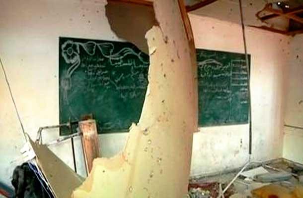 Shell hits U.N. School in Gaza killing 19 people.