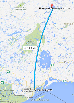 Neskantaga First Nation is about an hour and a half flight north of Thunder Bay.