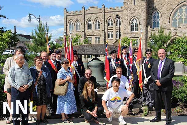 Thunder Bay Delegation at the Peace Bell at City Hall