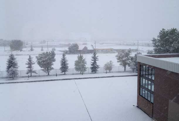 Winter conditions hit Calgary this week...