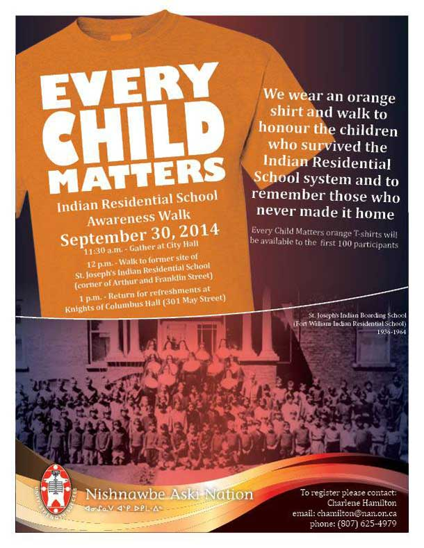 Orange Shirt Day is an opportunity to create meaningful discussion about the effects of Residential Schools and the legacy they have left behind. A day for survivors to be reaffirmed that they matter and so do those that have been affected. Every Child Matters, even if they are an adult, from now on.Orange Shirt Day is an opportunity to create meaningful discussion about the effects of Residential Schools and the legacy they have left behind. A day for survivors to be reaffirmed that they matter and so do those that have been affected. Every Child Matters, even if they are an adult, from now on.