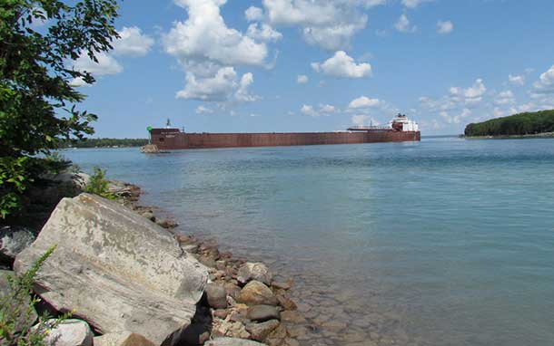 This is the Paul R. Tregurtha aground in an earlier incident