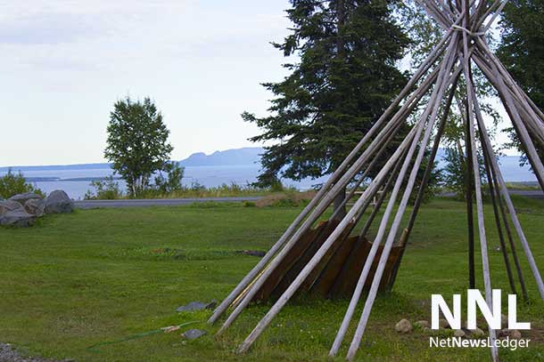 Fort William First Nation is located just south of Thunder Bay Ontario. From the Pow Wow Grounds there is an amazing view out over Lake Superior