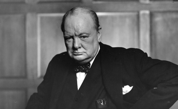 Canadian photographer Yousuf Karsh's famous image of a defiant Winston Churchill.