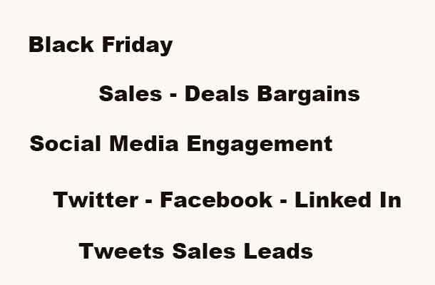 Black Friday Social Media Engagement Wars