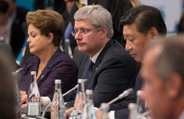 Prime Minister Harper at the G-20 Summit - Photo by PMO