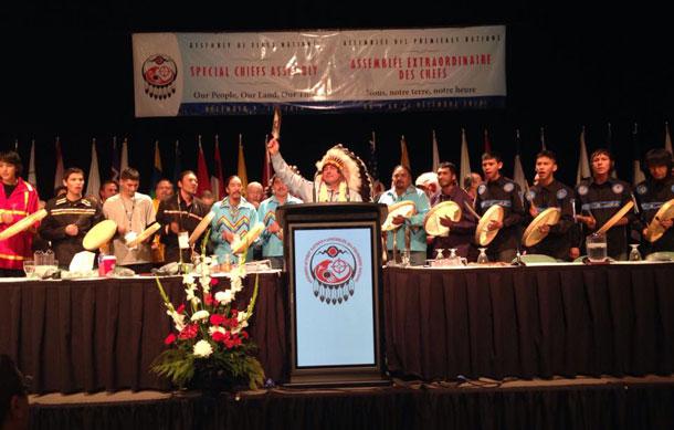 Newly Elected AFN National Chief Bellegarde - image by Derek Fox