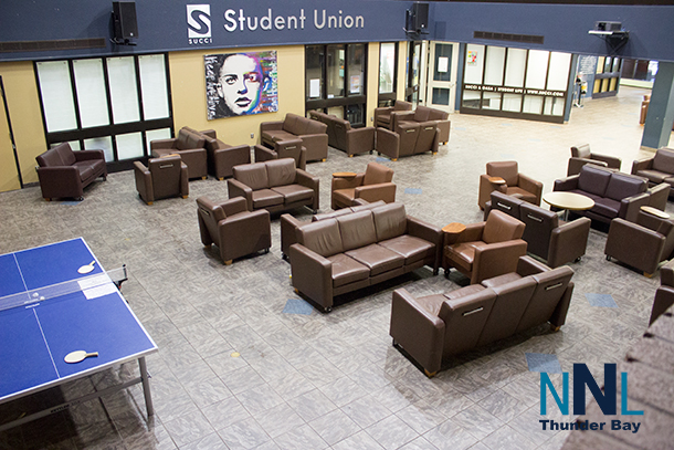 Confederation College student lounge in Shuniah Building