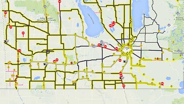 Highway Closures in Manitoba are impacting travel