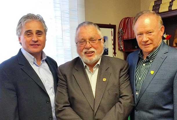 MPP Bill Mauro; MMAH Minister Ted McMeekin; Atikokan Mayor Dennis Brown