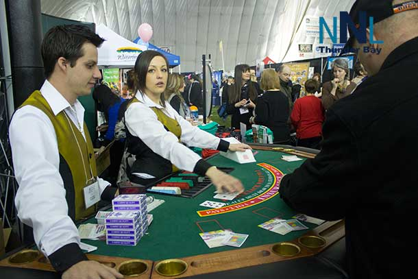 Try your hand at some fun blackjack and you can win a prize at the OLG booth