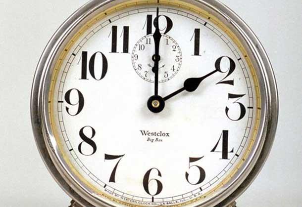 Daylight Savings Time starts at 02:00 on Sunday morning