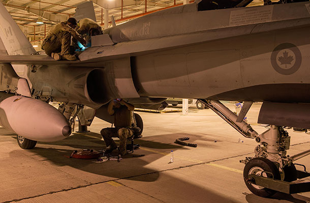Canadian Fighter Jet in Middle East