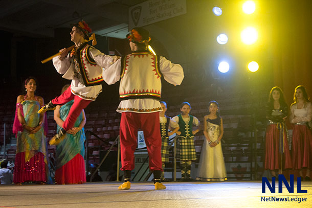 Dancers from the Ukraine on the main stage at Folklore Festival - Photo by Mackenzie