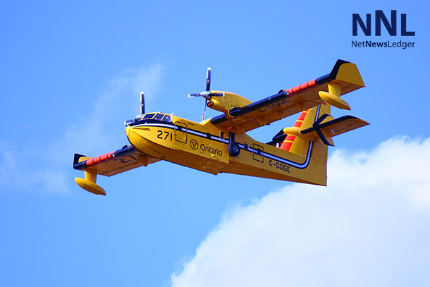 Ministry of Natural Resources CL-451 Water Bomber - Photo by Guy Gascoigne