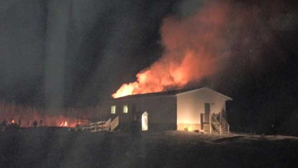 The school caught fire Wednesday Night - Image Facebook