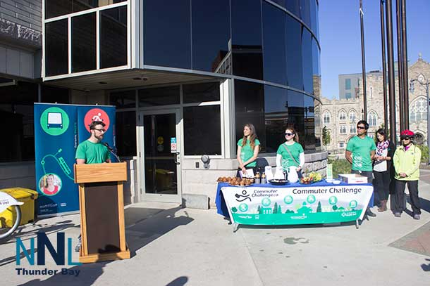 The Commuter Challenge kicked off today at City Hall
