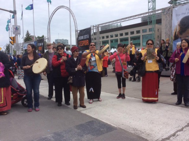 Hand Drummers at TRC in Ottawa