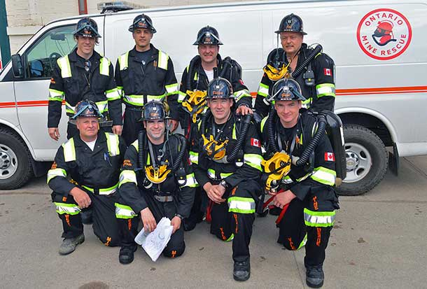 The Winners at the Ontario Mine Rescue Competition