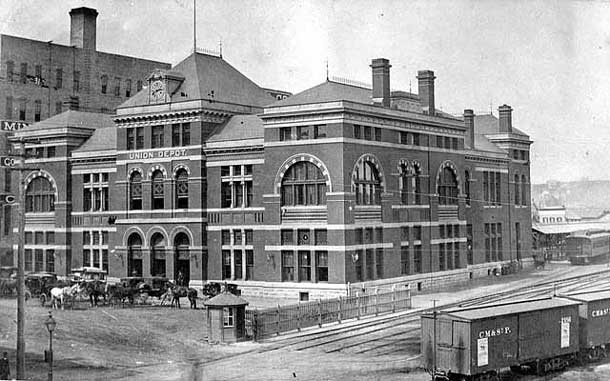 Train Station in Minneopolis - Circa 1886