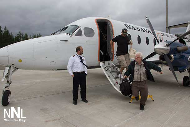 Wasaya Airways was the airline bringing in the students, families and dignitaries for the graduation