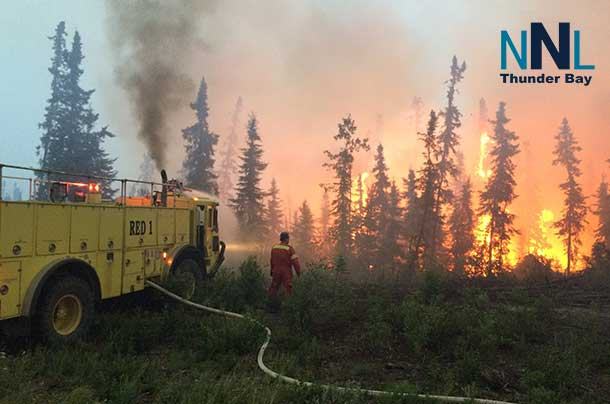 Wild fire near La Ronge Saskatchewan