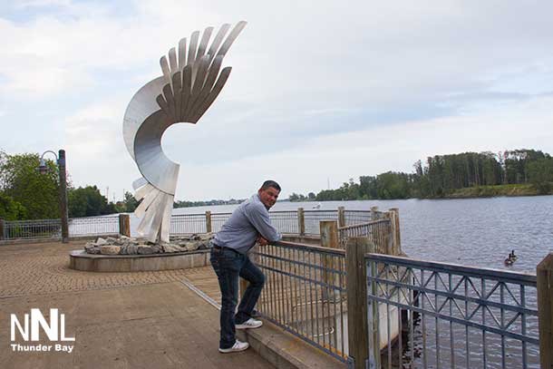Ontario Regional Chief Isadore Day in Thunder Bay at Kam River Park