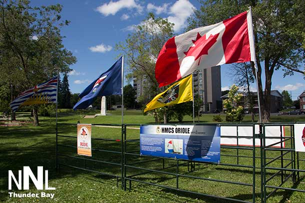 Ride Across Canada to Support Veterans stopped in Thunder Bay today