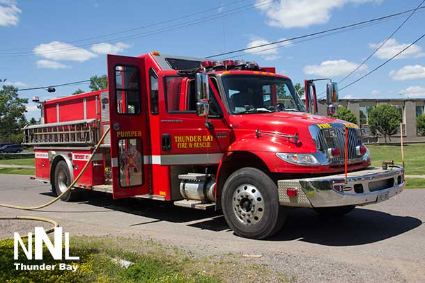 Thunder Bay Fire Rescue responded quickly and put out the fire.