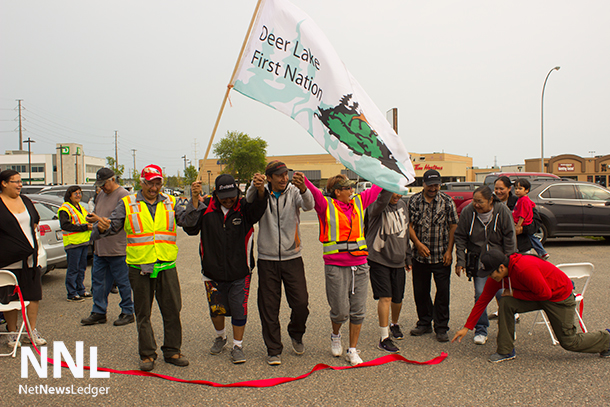 The Deer Lake First Nation Walkers complete their long journey in Thunder Bay