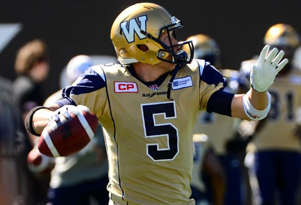 Winnipeg Blue Bombers QB Drew Willy is out for up to eight weeks