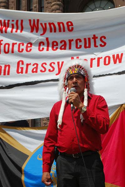 Grassy Narrows Chief Fobister