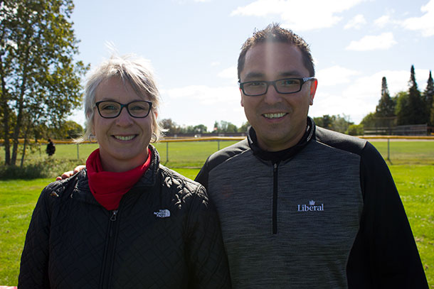 Thunder Bay Liberal candidates standing on the Liberal platform