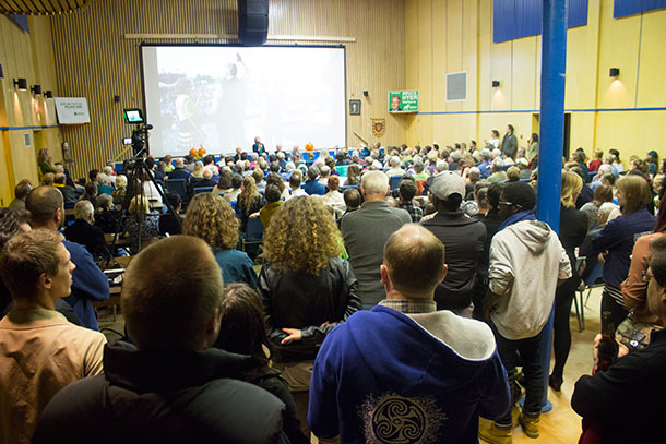 Full House at Green Party of Canada Town Hall