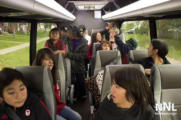 Headed to Lakehead University - the Vale Community Council youth enjoy the comfort of the Kasper Mini Bus