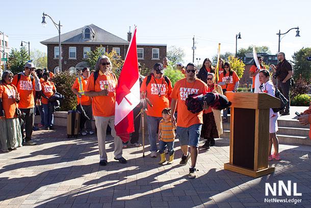 Orange Shirt Day gets walking in Thunder Bay.