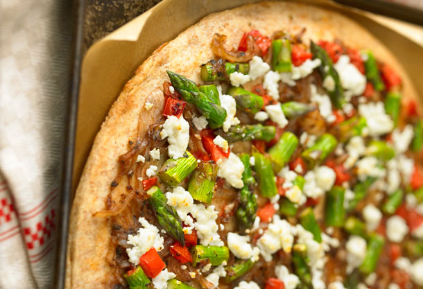 Asparagus Pizza - Image from Foodland Ontario