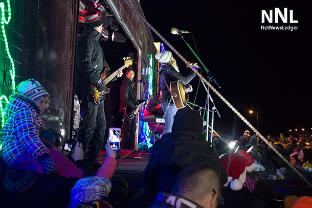 Holiday Train veteran and award-winning country singer Kelly Prescott with Devin Cuddy and CP's famed Holiday Train band thrilled Thunder Bay