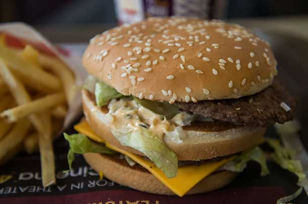 Two All Beef Patties, Special Sauce, Lettuce, Cheese, Pickles, Onions on a Sesame Seed Bun... the classic fast food Big Mac