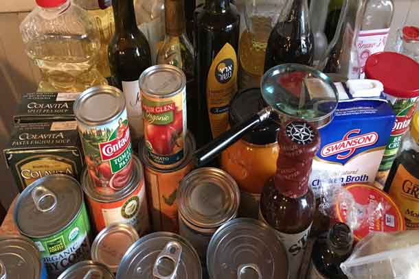 Start off the new year with a well-organized pantry. (Magnifying glass for reading expiration dates optional.) Credit: Copyright 2016 Tina Caputo