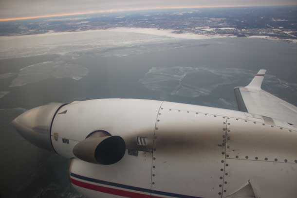 Thunder Bay on March 10th from onboard Wasaya Airways Dash 8 Aircraft
