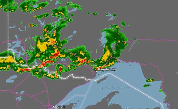 Thunder Bay Radar Map NetNewsLedger   Severe Thunderstorm Watch   West of Thunder Bay