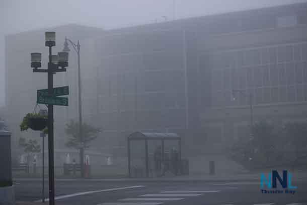 Thunder Bay City Hall - Foggy conditions Sunday Morning - June 26 2016