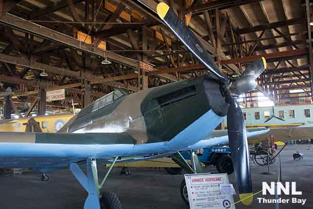 Hawker Hurricane Fighter at the Brandon Museum. These fighters were built in Thunder Bay at the Canada Car facility that today is Bombardier